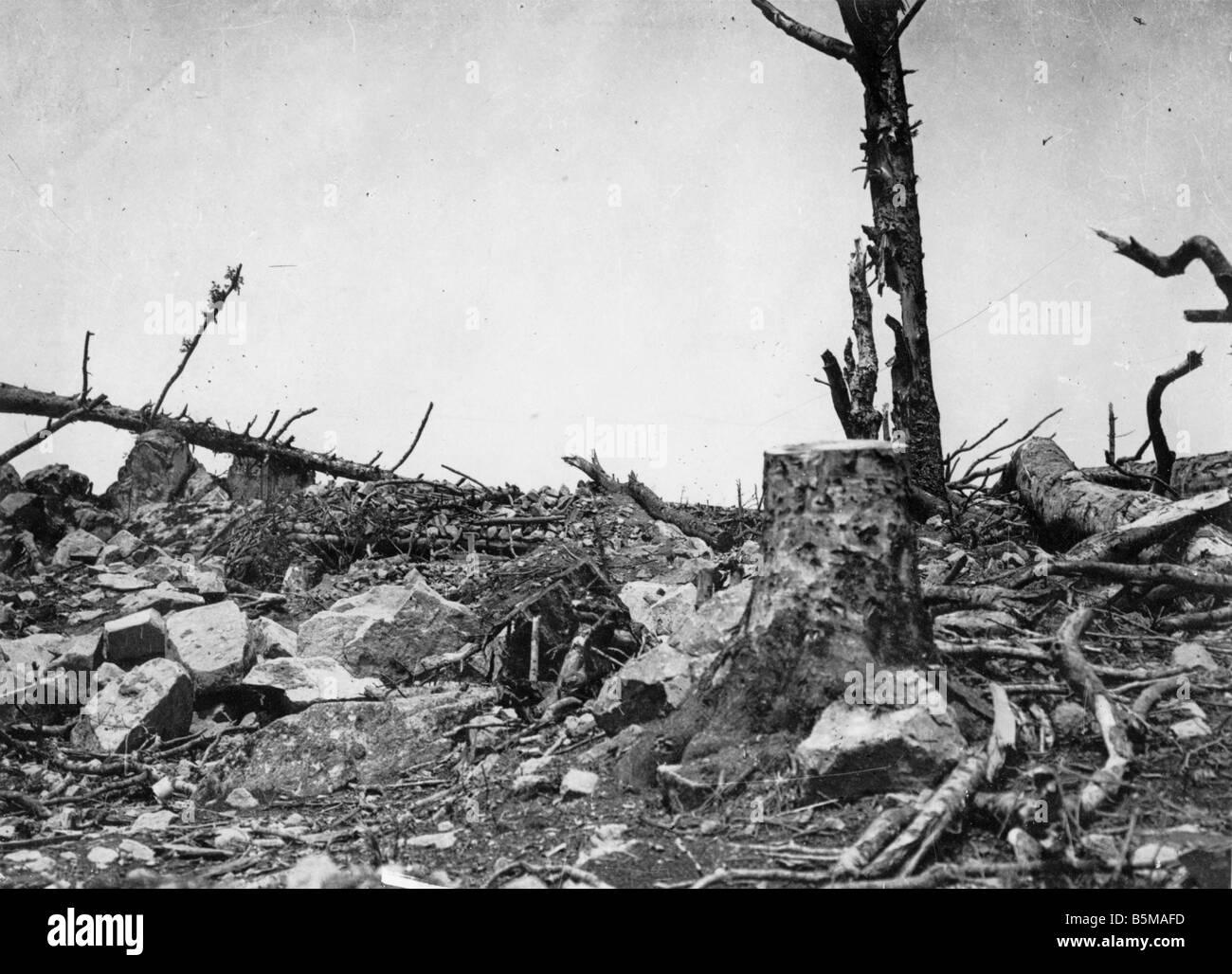 2 G55 W1 1918 25 Hartmannsweilerkopf Photo 1918 Storia Guerra Mondiale 1 fronte occidentale il villaggio Hartmannsweilerkopf Immagini Stock