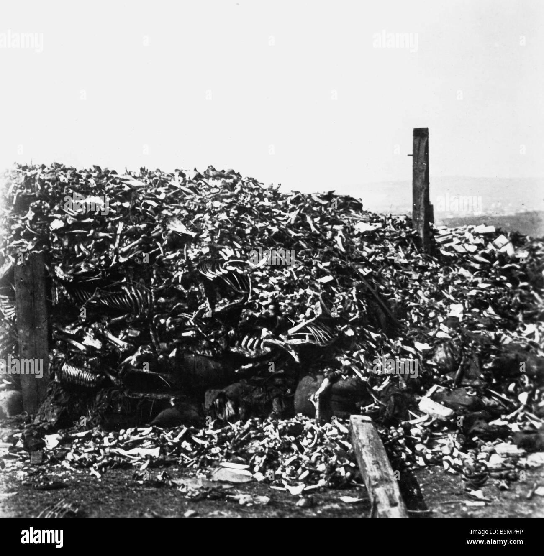 9 1916 10 24 A1 5 e Verdun ossa dei soldati caduti in guerra mondiale 1 1914 18 fronte occidentale battaglia di Verdun 1916 ossa dei caduti venduti Foto Stock