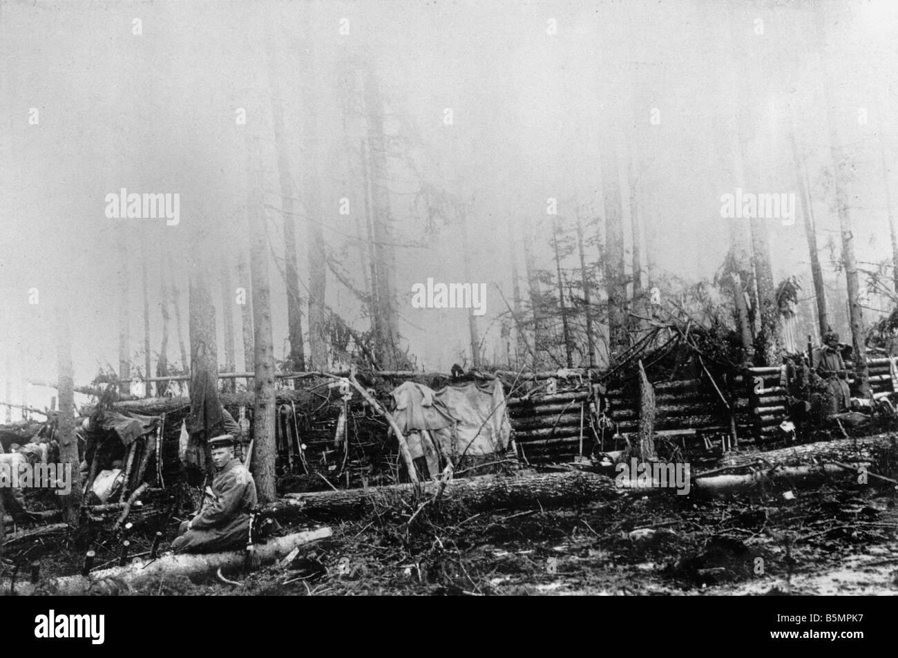 9 1916 3 18 A1 13 e Battaglia di Postawy 1916 Ger posizione Guerra Mondiale 1 anteriore orientale sconfitta delle truppe russe dopo un offen sive o Foto Stock