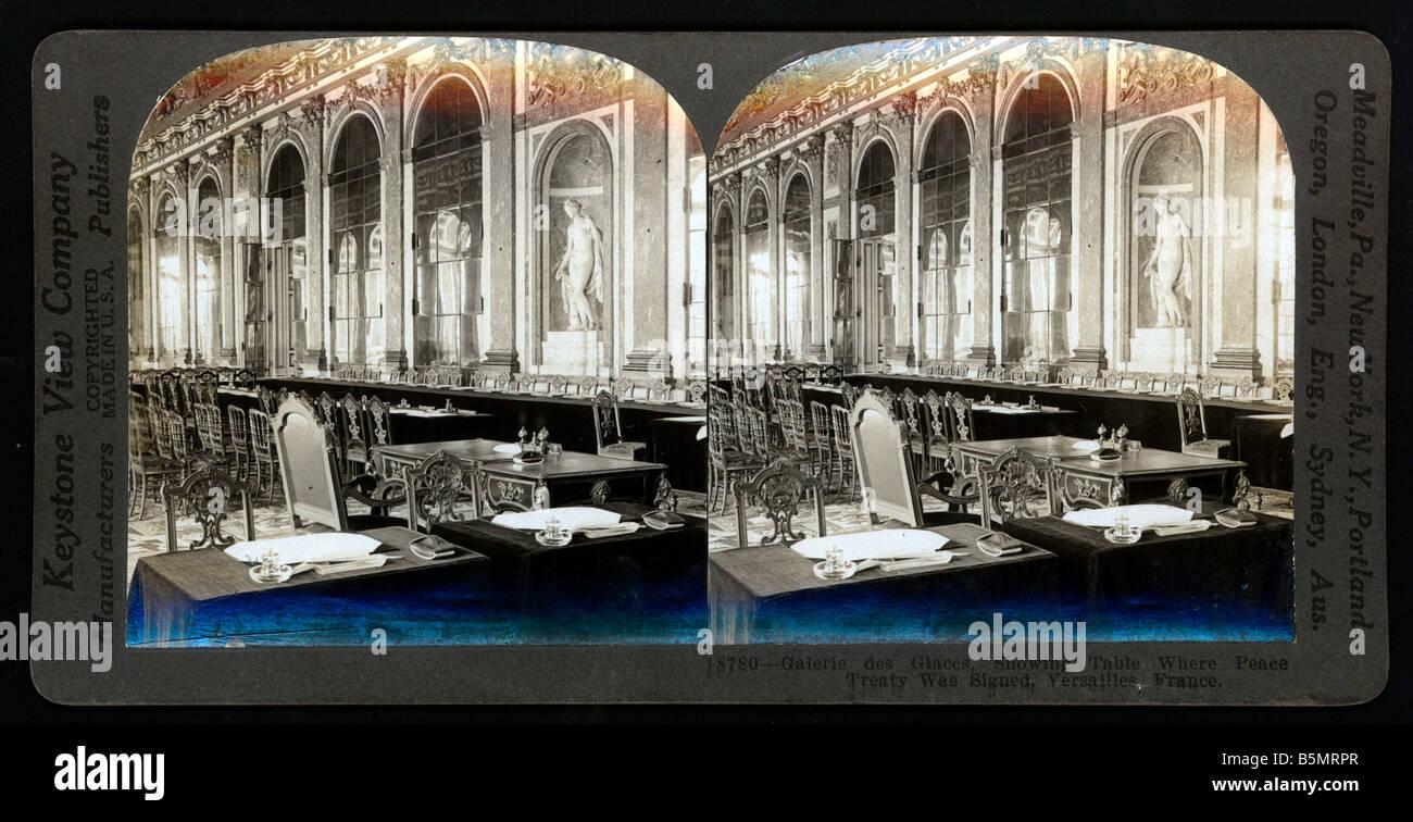 9 1919 6 28 A2 1 tavolo del Trattato di Pace di Versaille nuovamente trattato di pace di Versailles del 28 giugno Immagini Stock