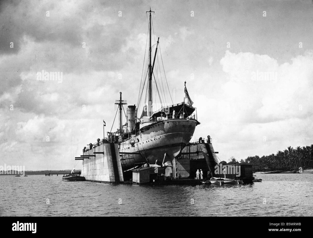 9AF 1914 0 0 A6 3 sistema di cottura a vapore Goetzen Lago Tanganika 1914 la Prima Guerra Mondiale la guerra nelle colonie tedesco East Africa di oggi la Tanzania il cons Foto Stock