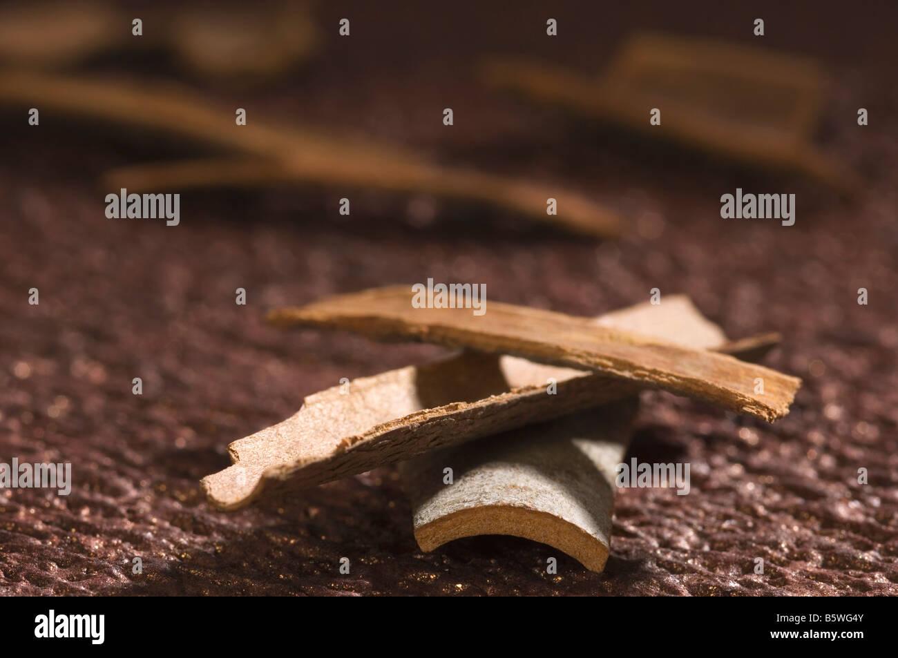 Close-up di cannella Foto Stock