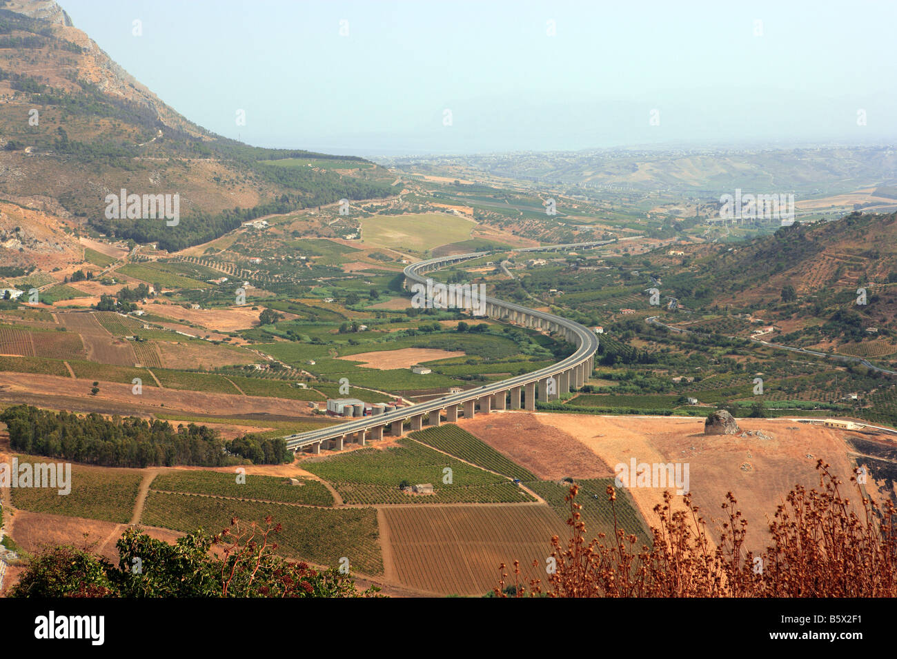 A 29 autostrada Sicilia Occidentale Immagini Stock
