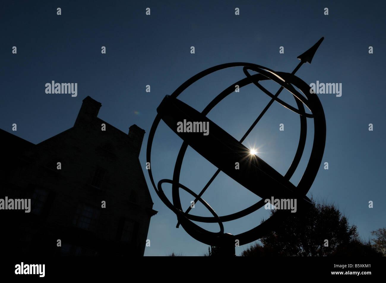 Sfere armillari globo. Immagini Stock