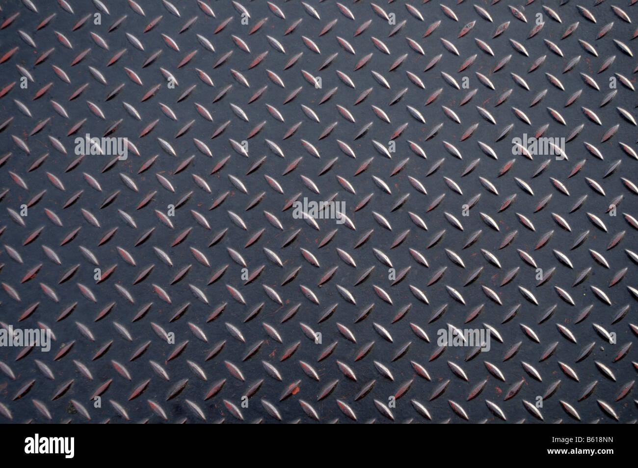 Anti-slittamento strutturato della piastra in metallo Immagini Stock