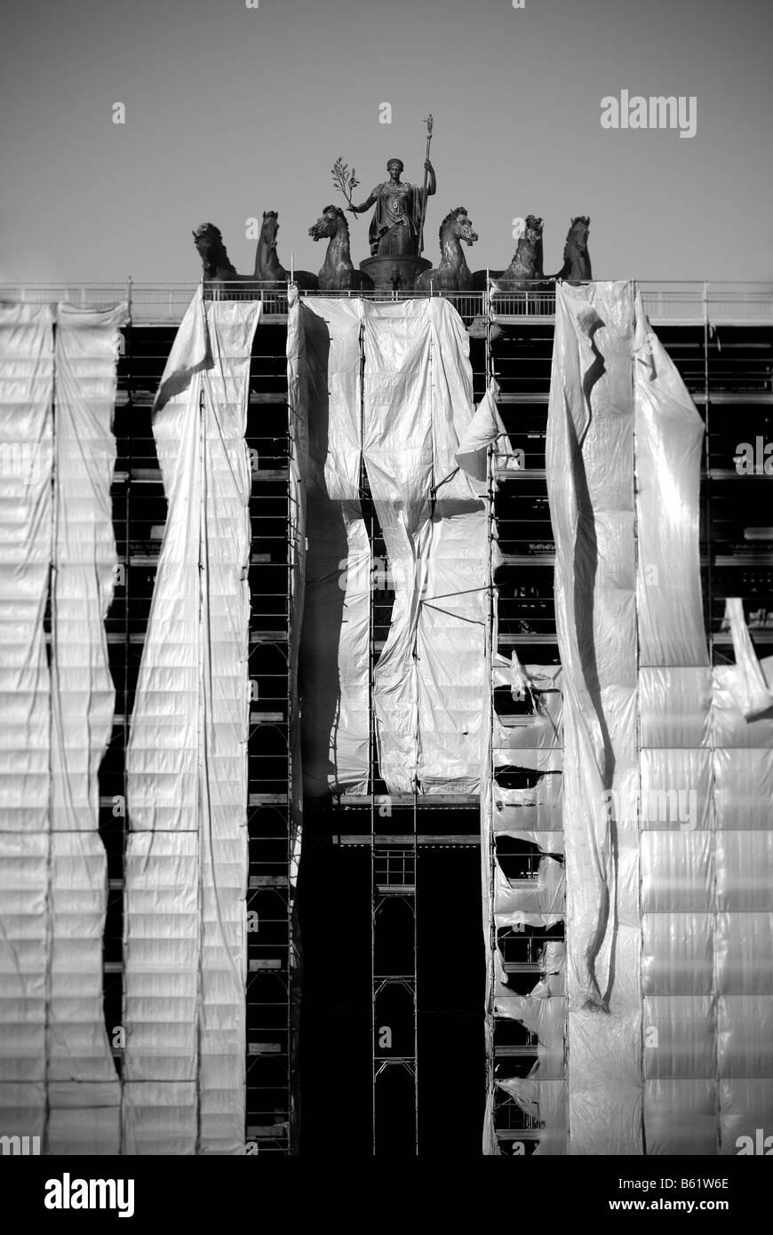 Milano, Arco della Pace dettaglio Immagini Stock