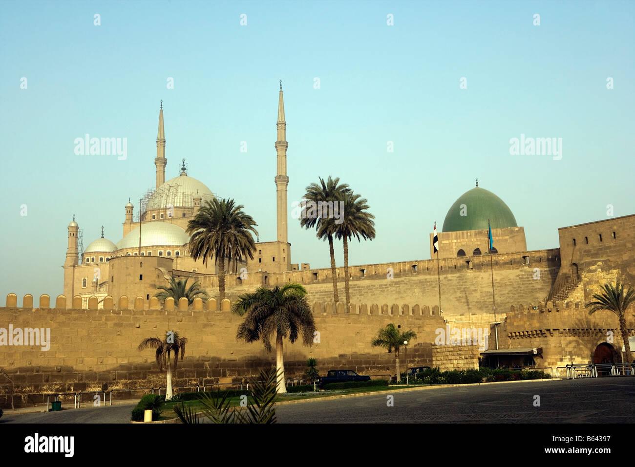 L'Egitto, al Cairo, Cairo Islamico, la Moschea - Moschea di Mohammed Ali Immagini Stock