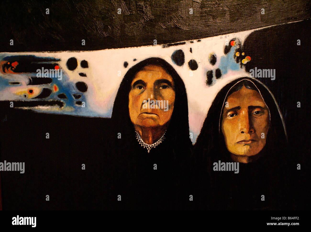 Horizontes de tormenta (1987) di mauricio mejia, Museo de Arte de El salvador, (Marte) San Salvador El salvador Immagini Stock