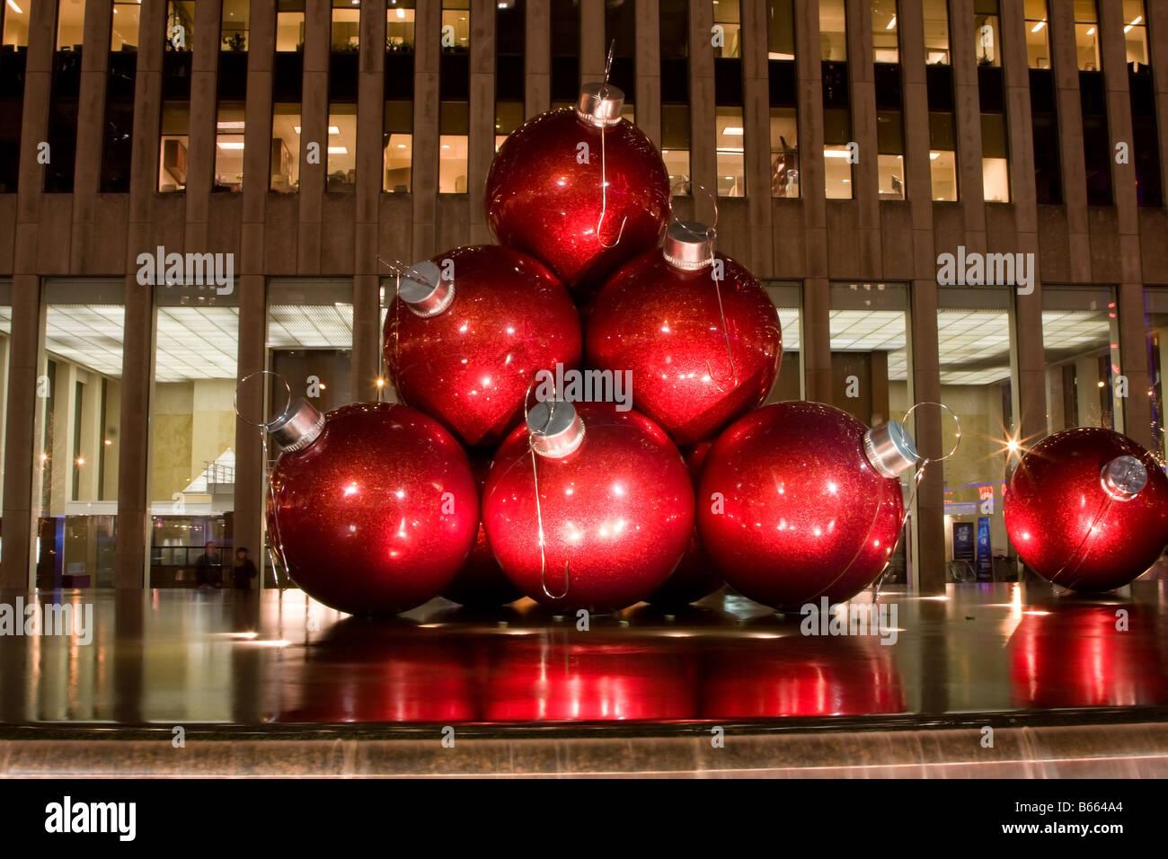 Palle Di Natale Grandi.Grandi Palle Rosse Come Ornamenti Per L Albero Di Natale