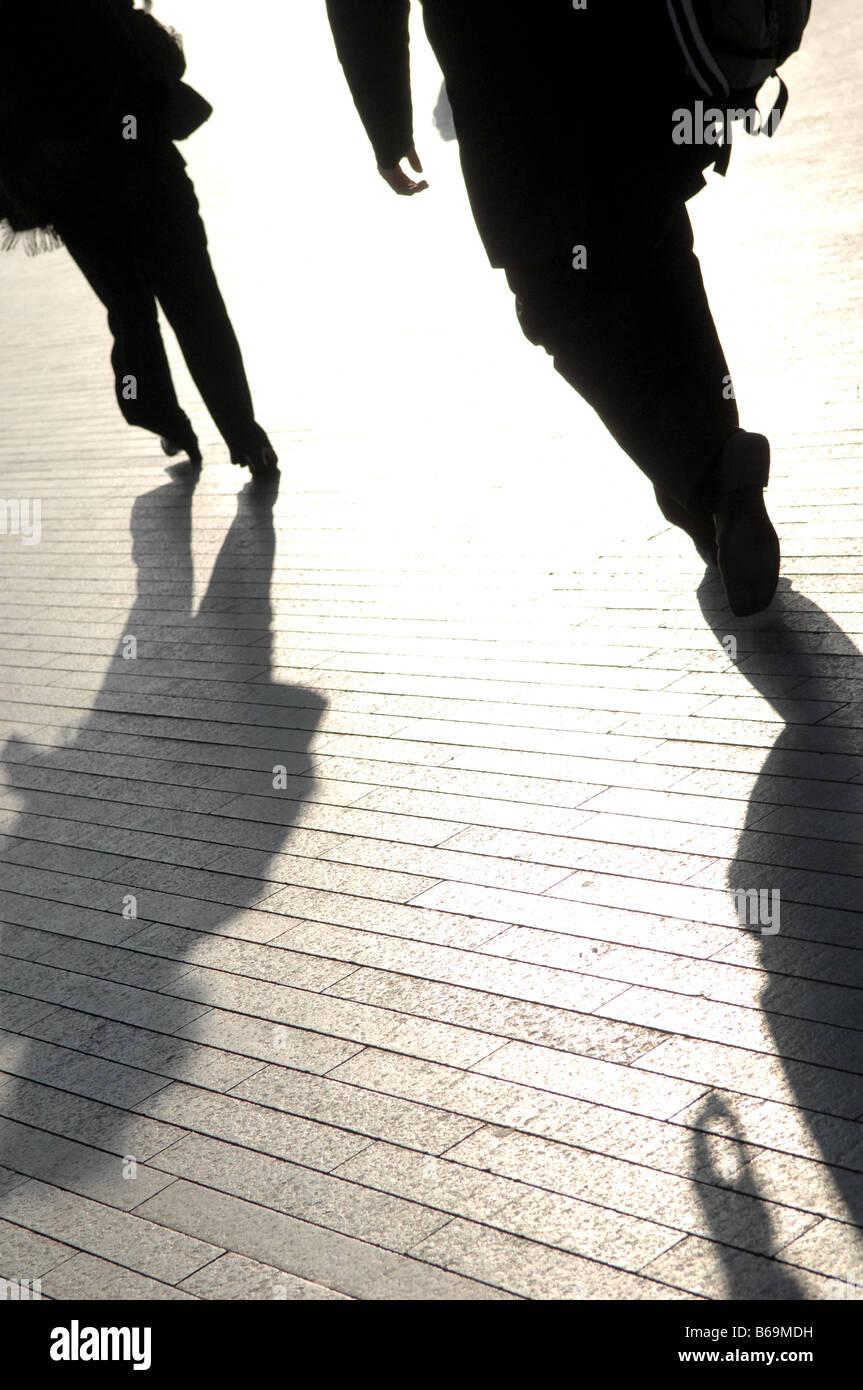 La gente a piedi spostamenti di lavoro business Immagini Stock