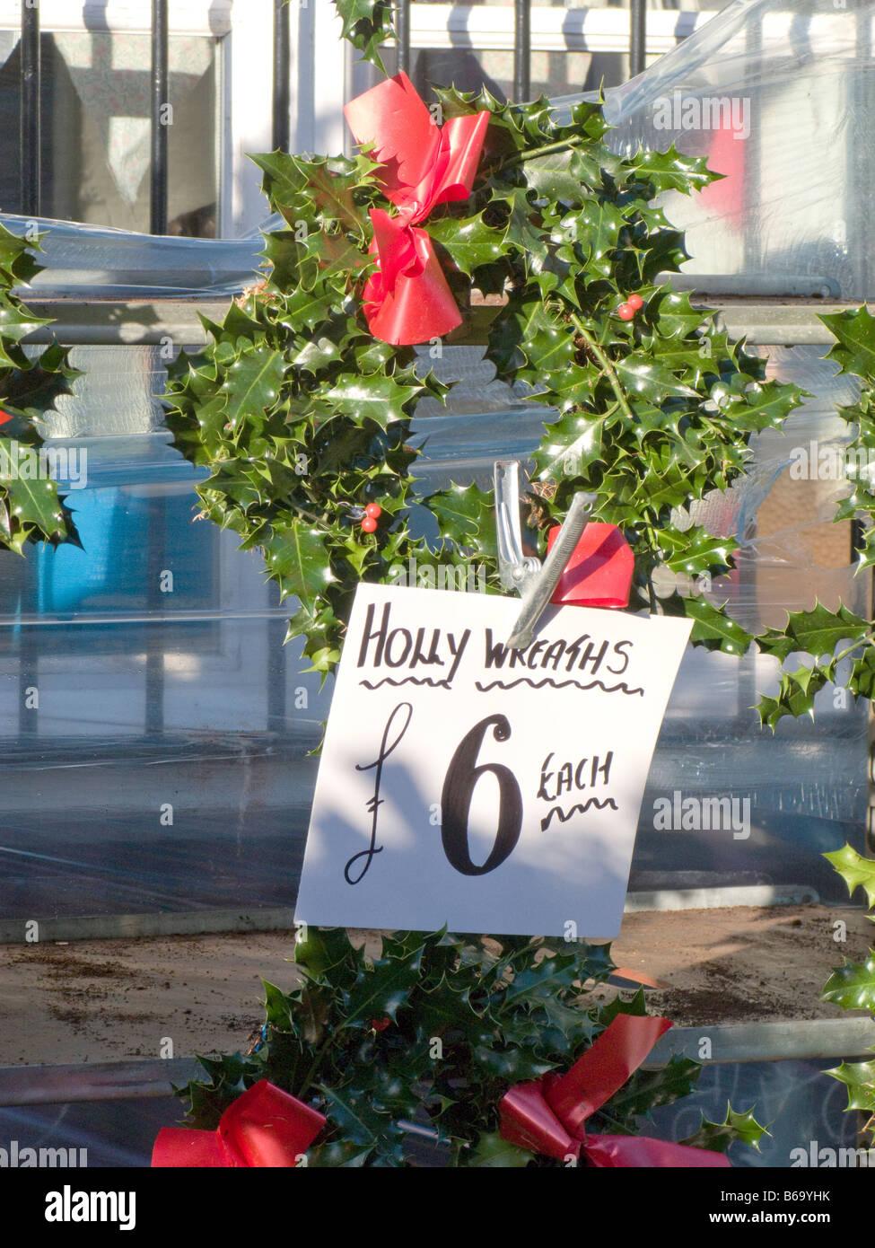 Alberi di Natale in vendita presso la Columbia Road Market Shoreditch Tower Hamlets East End di Londra.England Regno Foto Stock