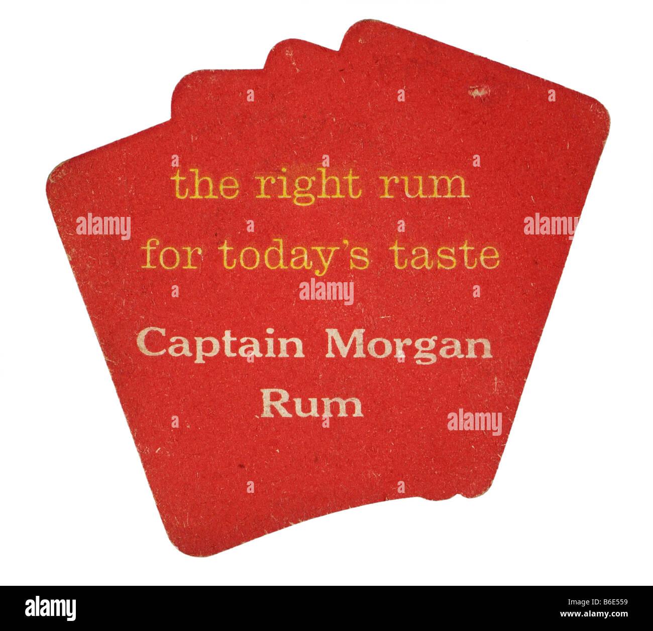 Il diritto di rum per il gusto di oggi Captain Morgan rum Immagini Stock