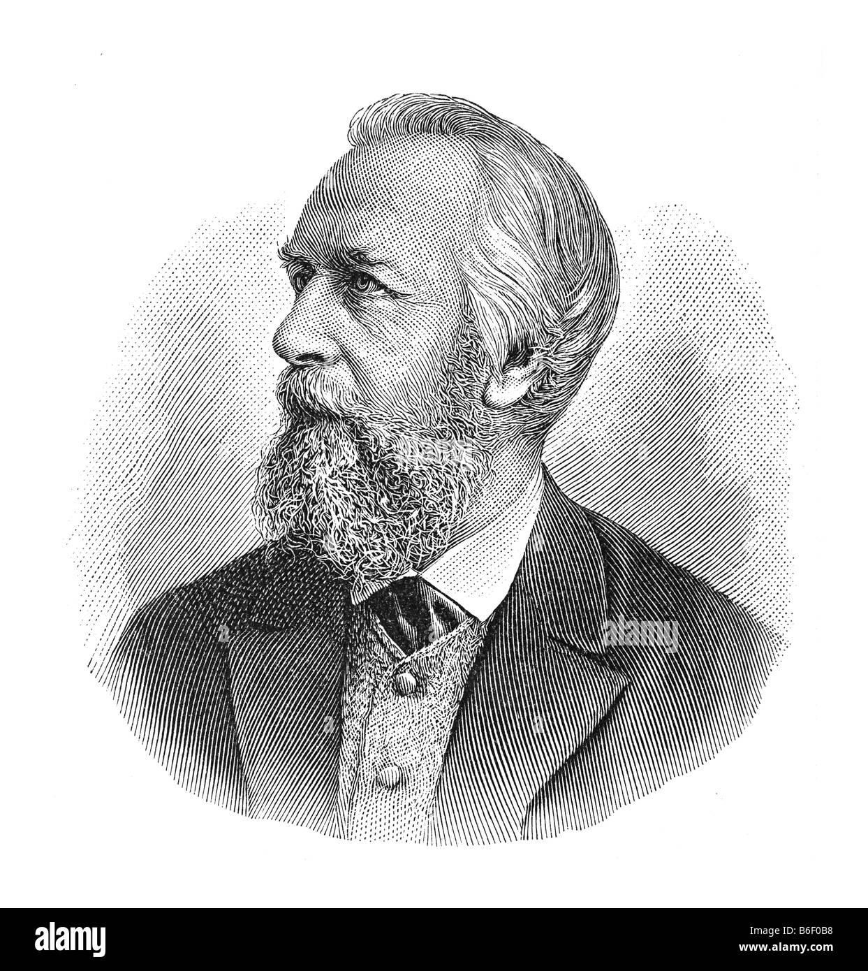 Ernst Heinrich Philipp August Haeckel, 16. Febbraio 1834 Potsdam - 9. Agosto 1919 Jena Immagini Stock