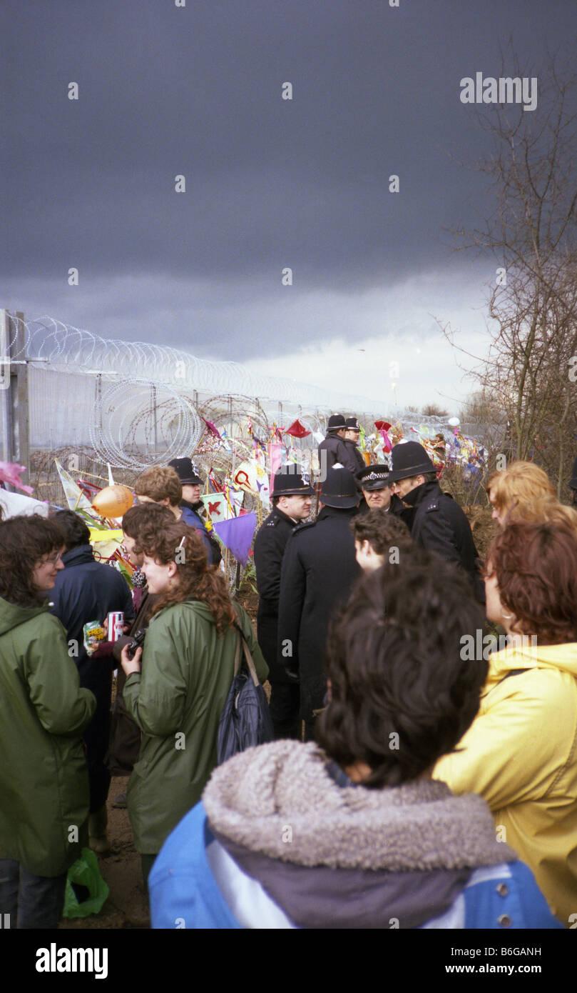 Greenham Common Accampamento della Pace Immagini Stock