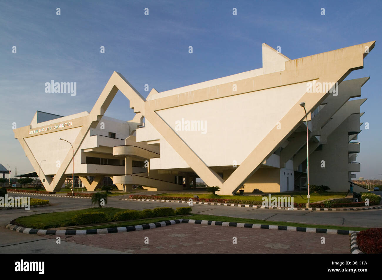 Hyderabad: Hitec City, centro importante di Indian Software Call Center industria. Accademia nazionale di costruzione Immagini Stock