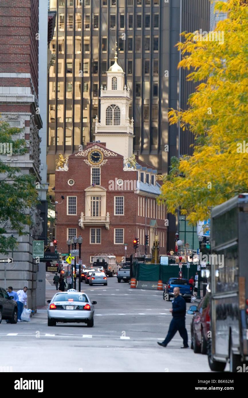 La Old State House di Boston Massachusetts, STATI UNITI D'AMERICA Immagini Stock