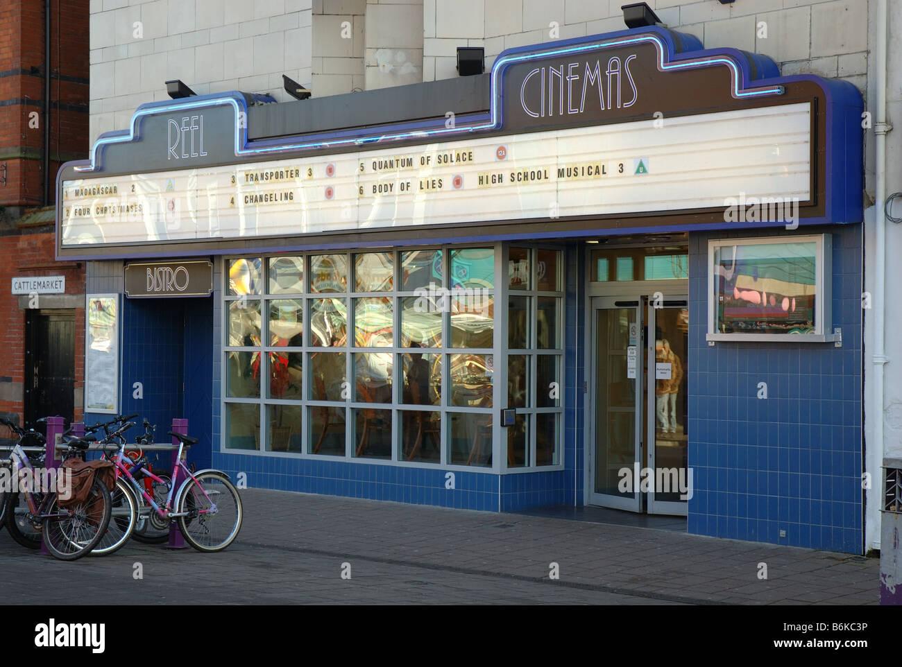 Cinema aspo, Loughborough, Leicestershire, England, Regno Unito Immagini Stock