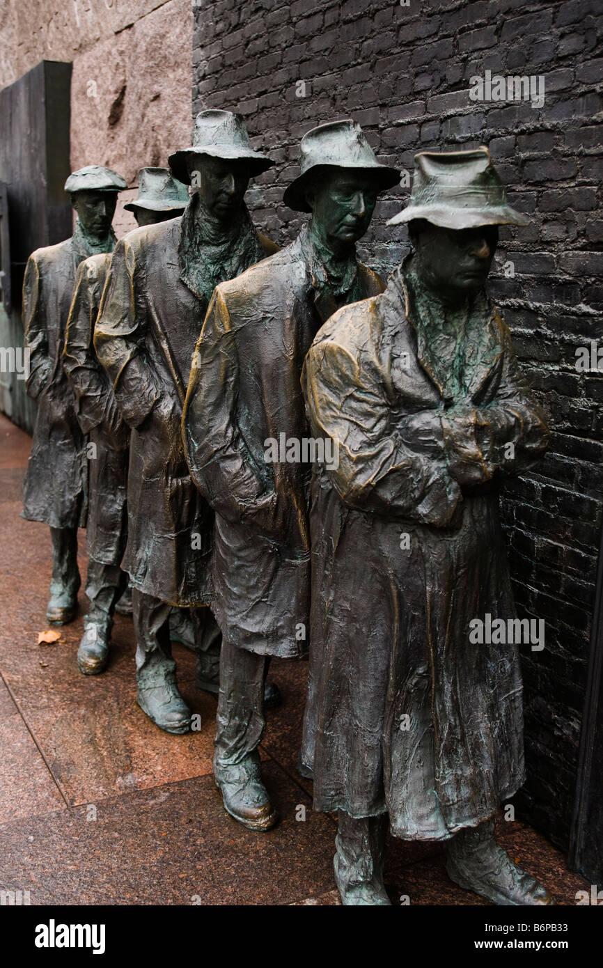 La depressione grande statua - Washington DC, Stati Uniti d'America Immagini Stock
