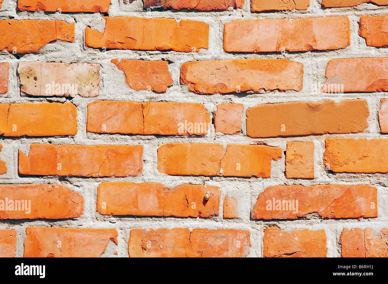 Il vecchio muro di mattoni di sfondo Immagini Stock