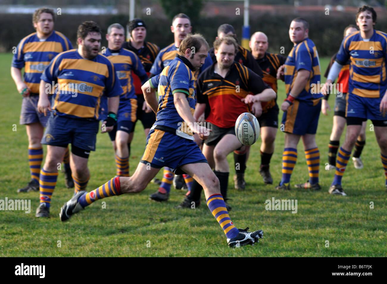Il Rugby a livello di club, Leamington Spa, England, Regno Unito Immagini Stock