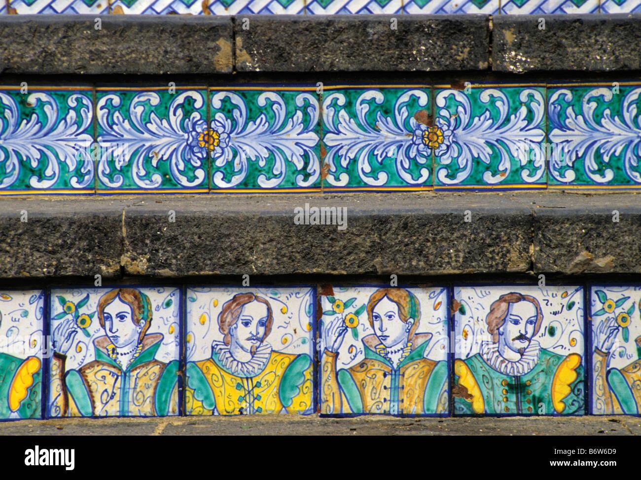 La scalinata di santa maria del monte le piastrelle di ceramica