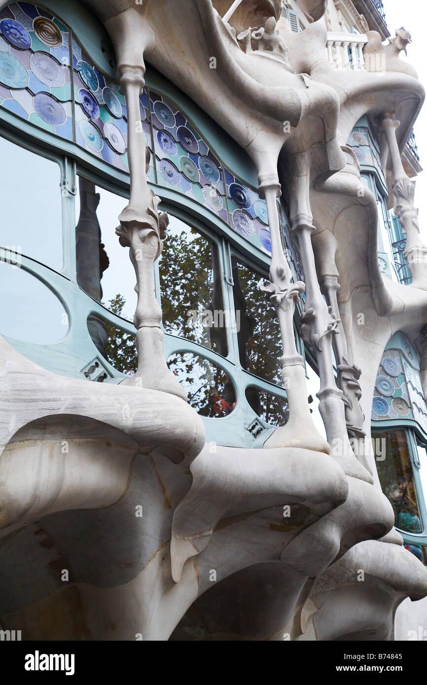 Casa Battlo Barcellona Spagna Immagini Stock