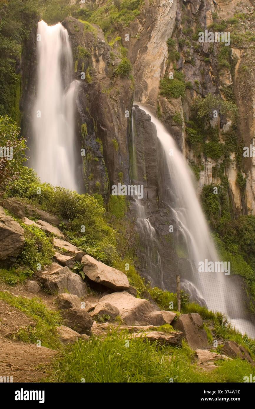 Cascada Salto de Quetzalapa Immagini Stock