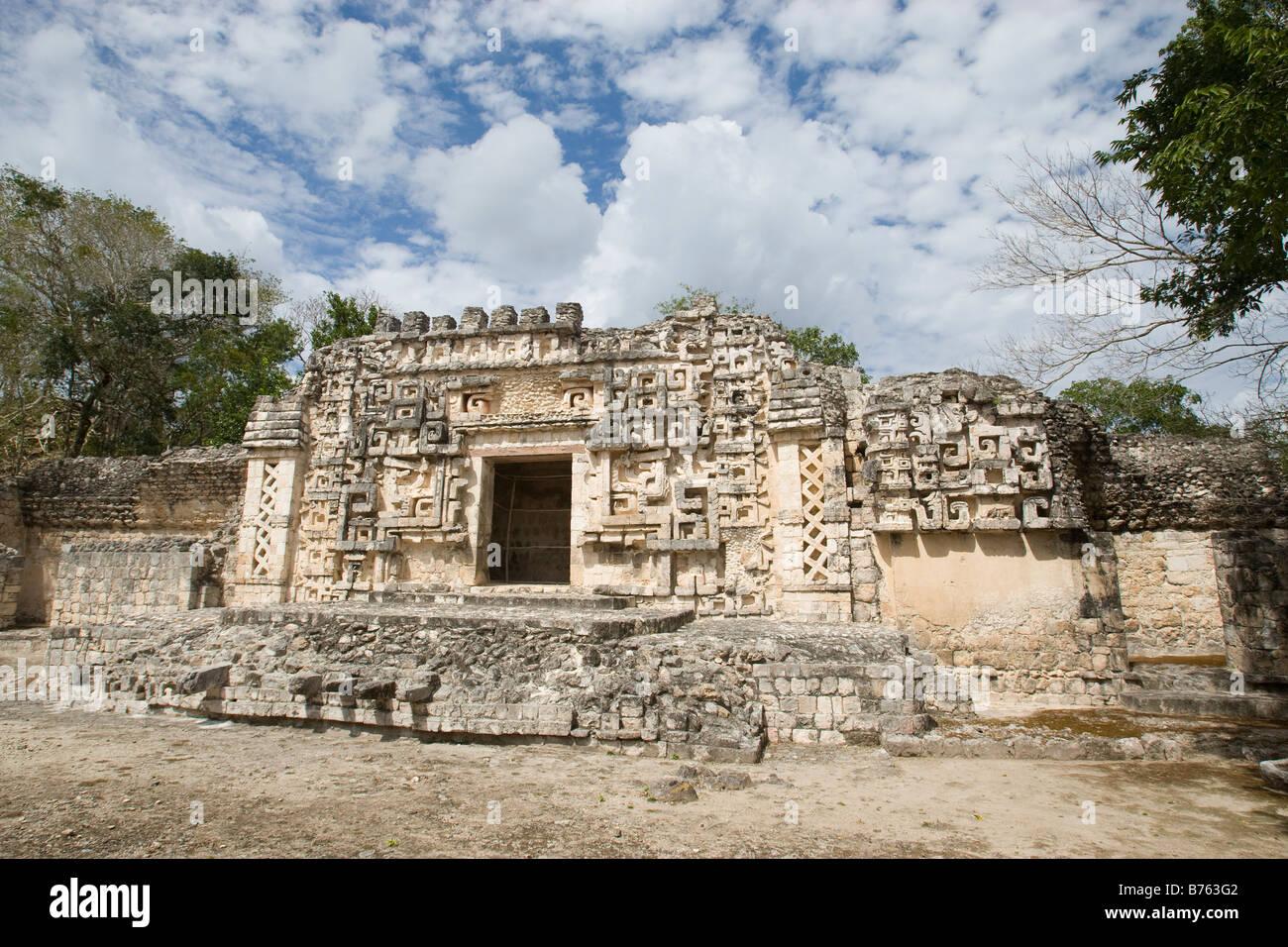 Le rovine Maya in Messico Hochob Immagini Stock