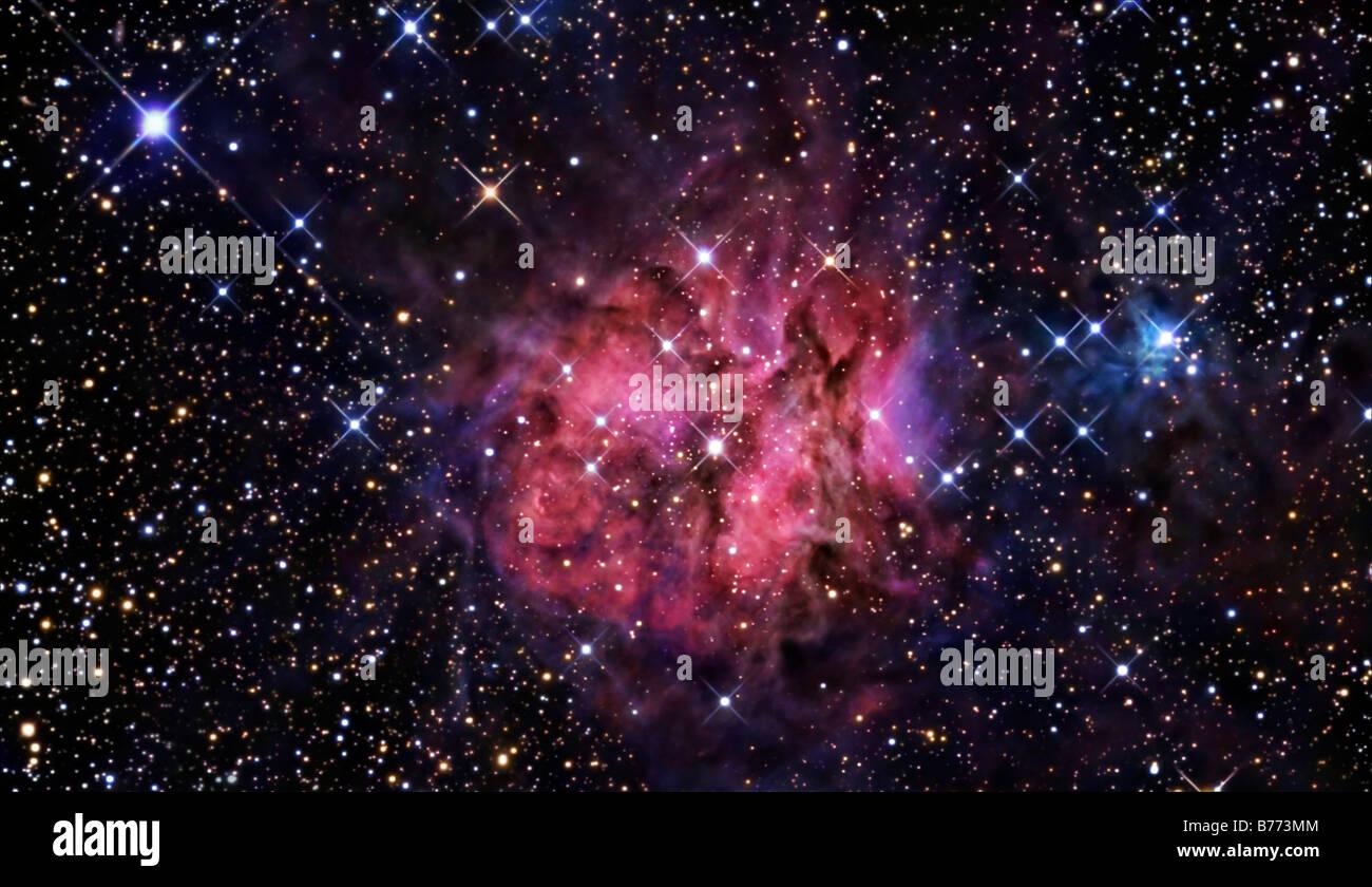 Il Cocoon Nebula Immagini Stock
