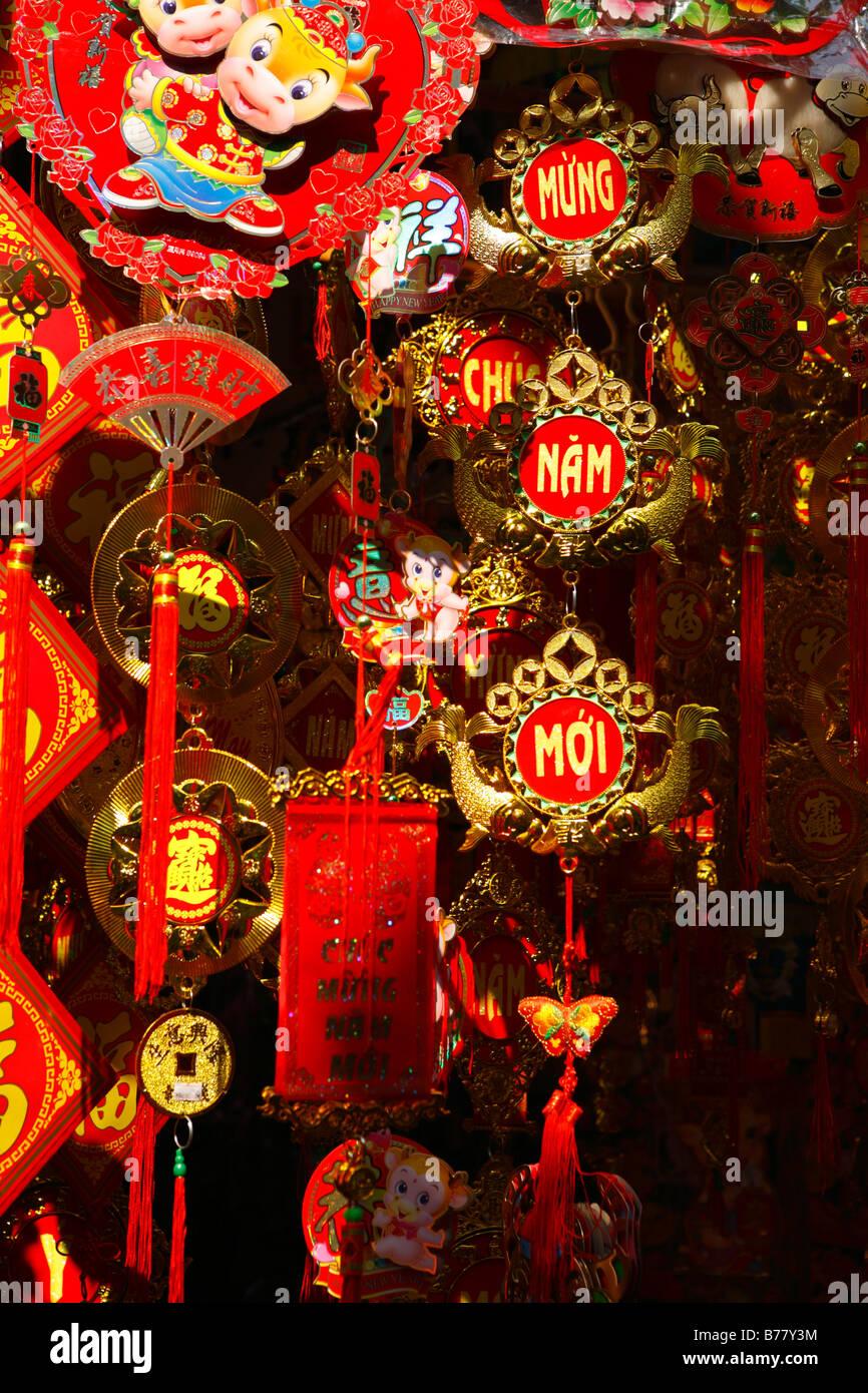 Decorazione roba per il nuovo anno lunare Immagini Stock