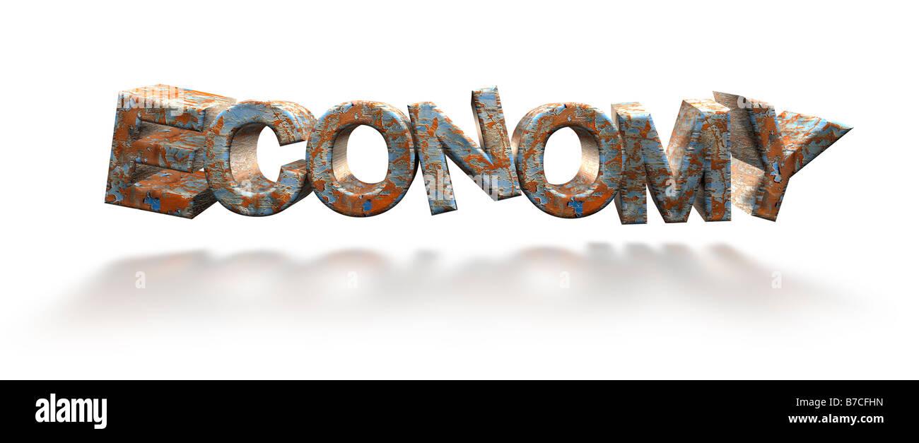 Il concetto di economia - 3D render cgi Immagini Stock