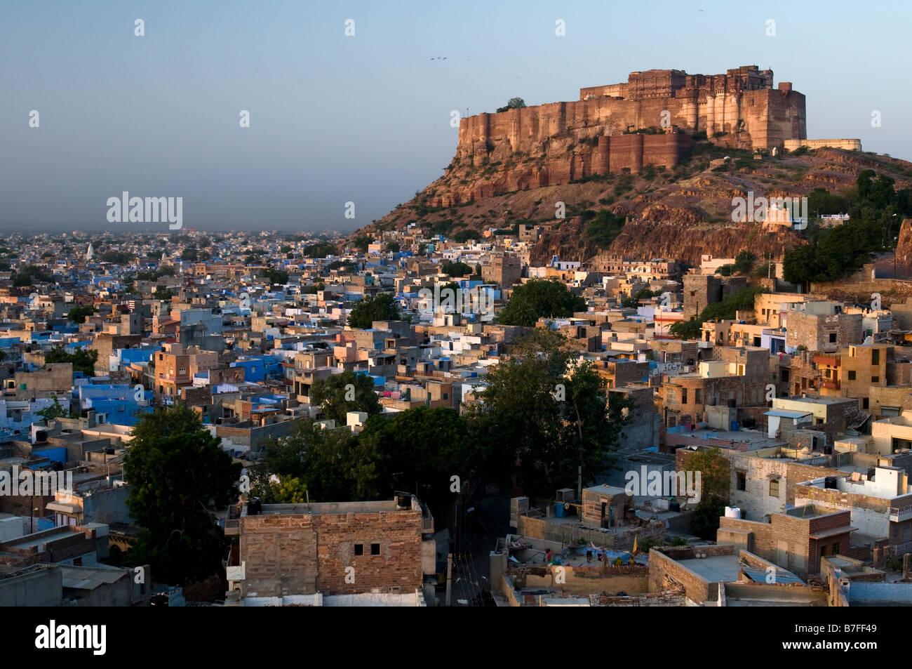 Meherangarh Fort. Jodhpur. Il Rajasthan. India. Immagini Stock