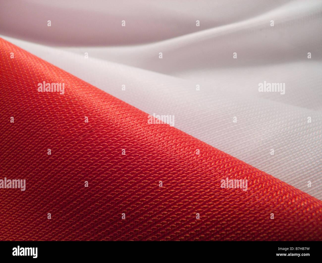 bandiera della Polonia Immagini Stock