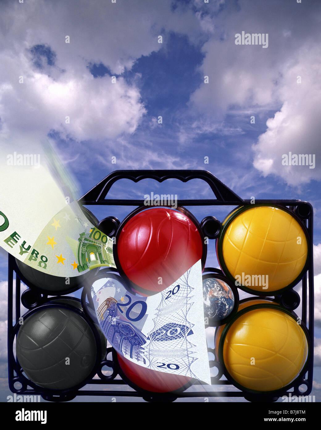 Concetto di viaggio: il denaro per le vacanze Immagini Stock