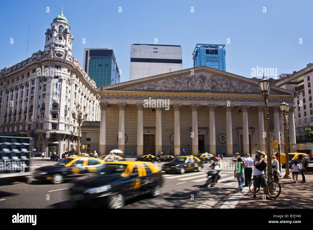 Cattedrale metropolitana Plaza de Mayo, il centro della città di Buenos Aires Argentina America del Sud Immagini Stock