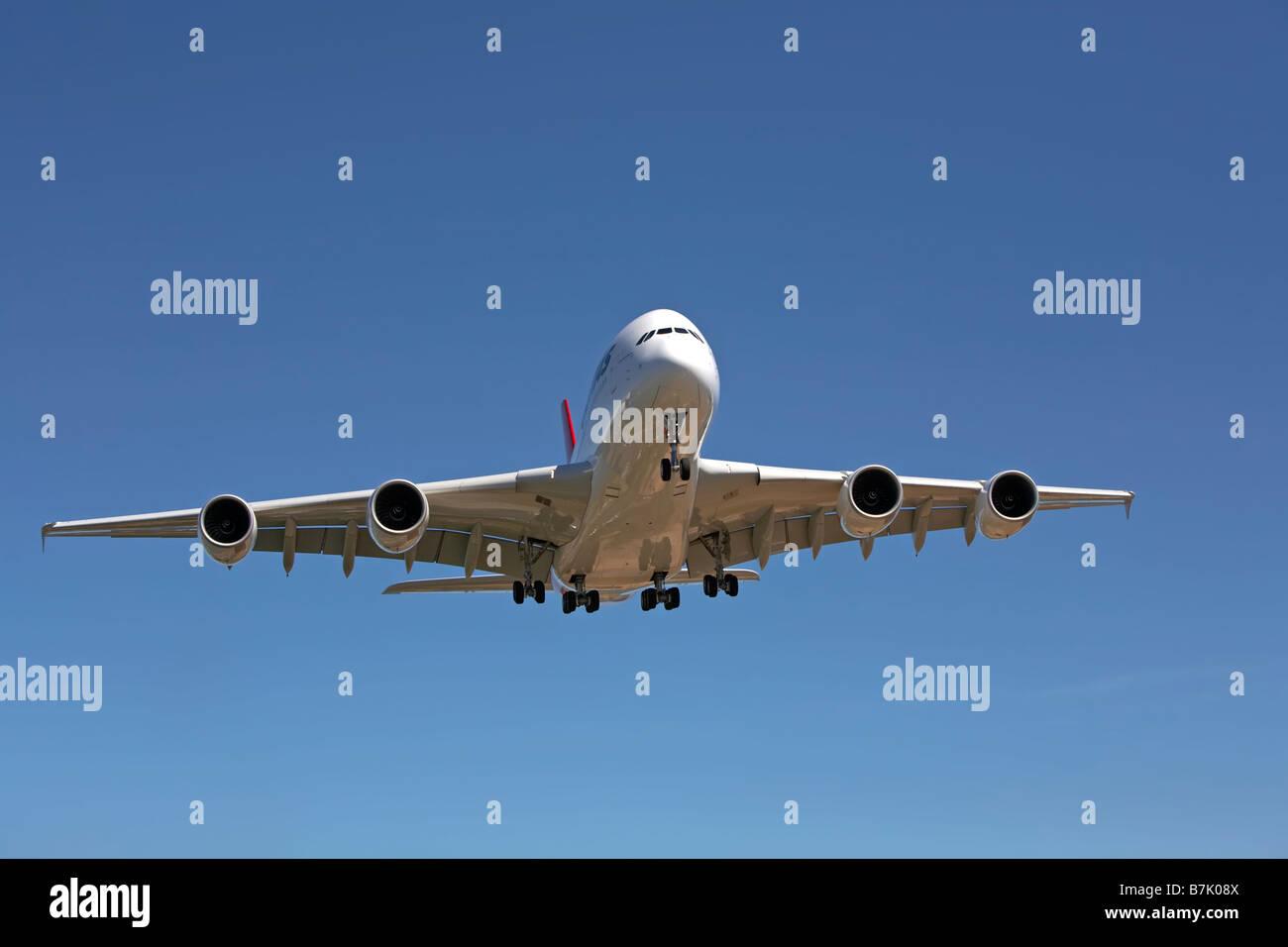 A380 sull approccio finale Immagini Stock
