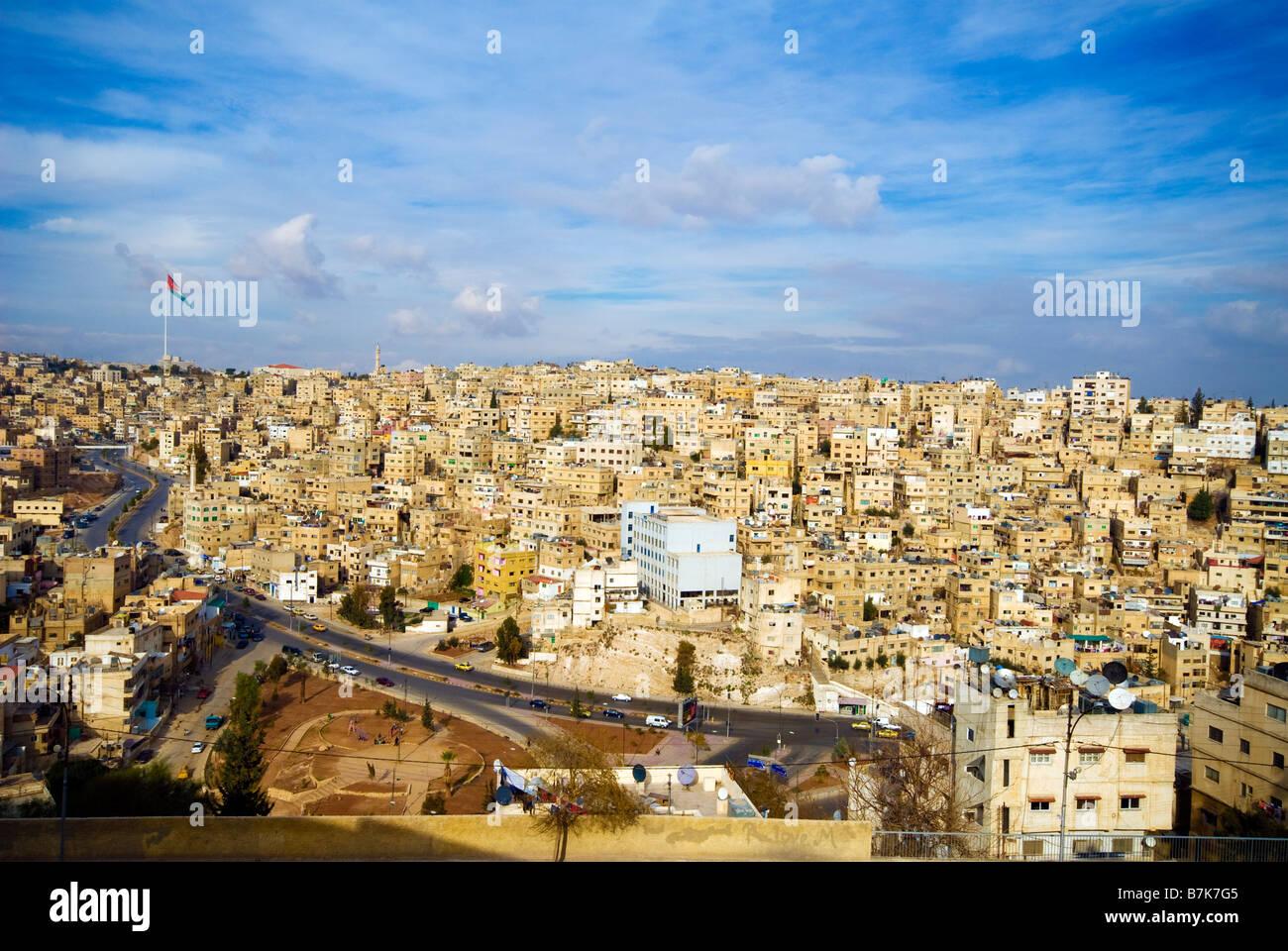 La Giordania Amman cittadella vista città Immagini Stock
