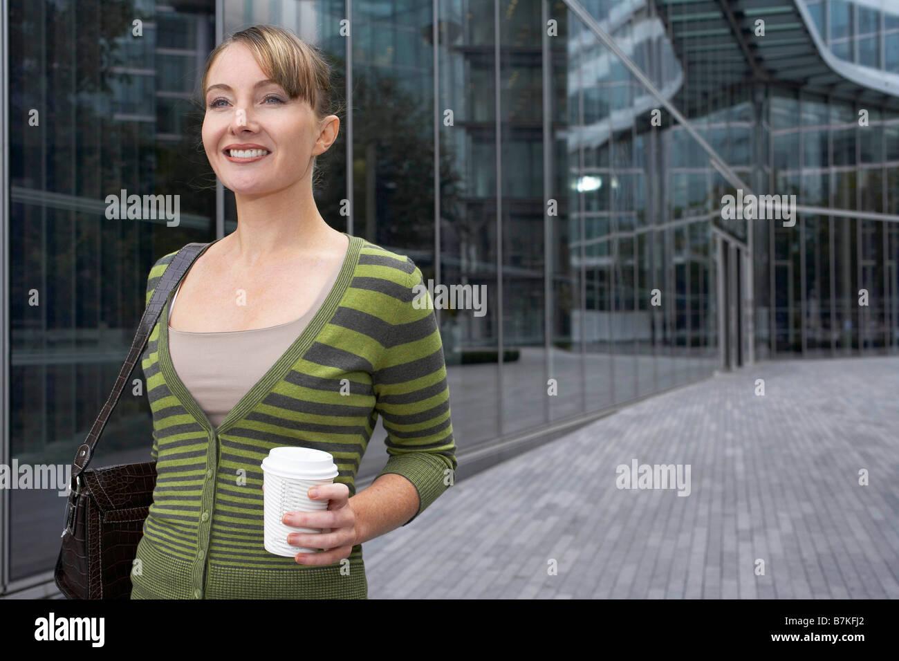 Business Woman in movimento Immagini Stock