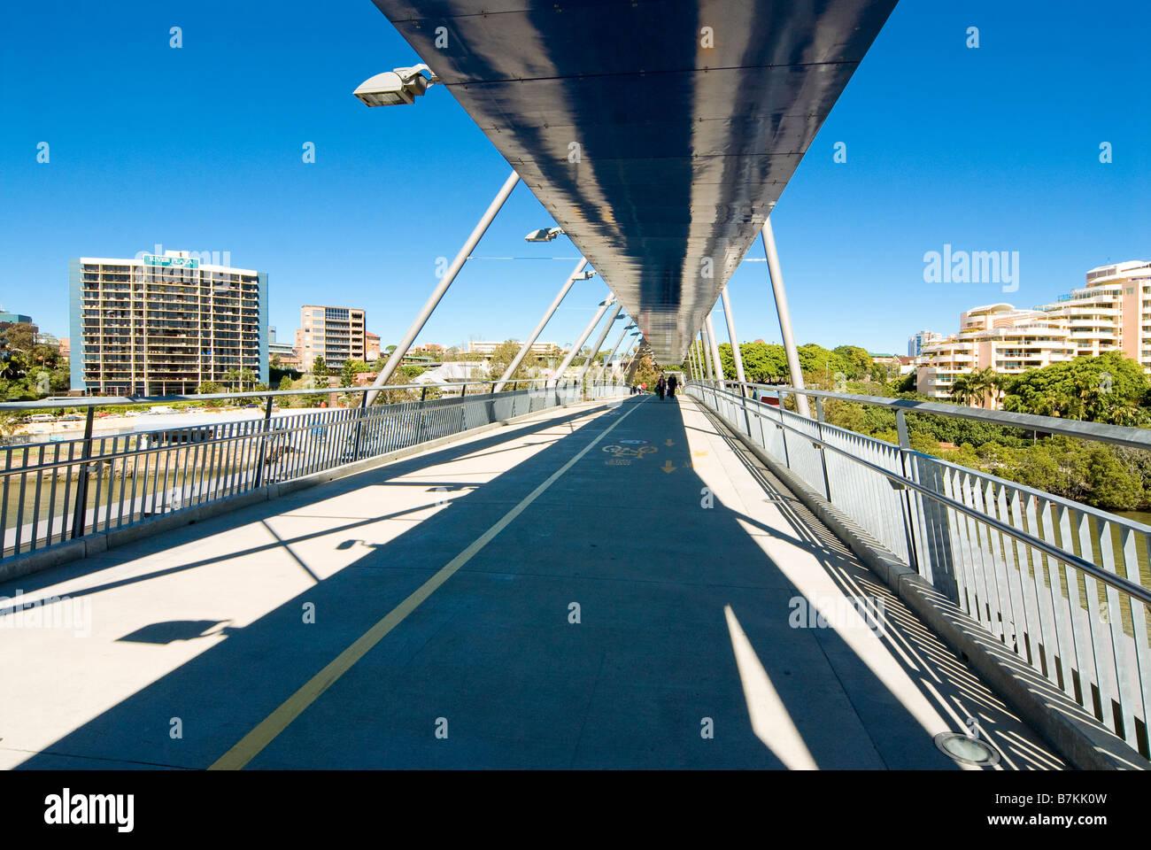 Avviamento ponte sopra il fiume Brisbane, Brisbane, Australia Immagini Stock