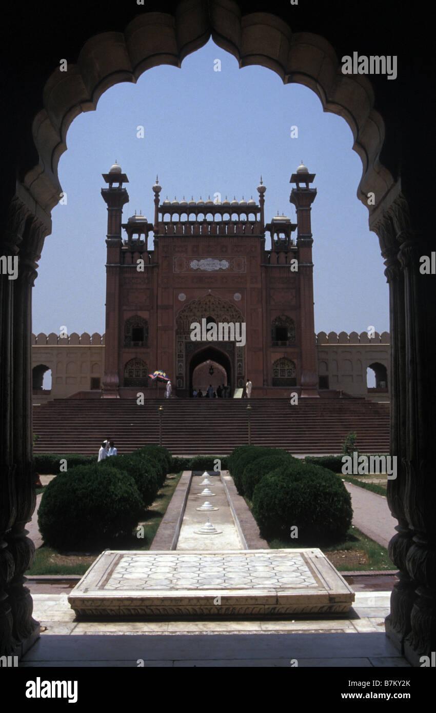 Ingresso al Red Fort Lahore Punjab Pakistan Foto Stock