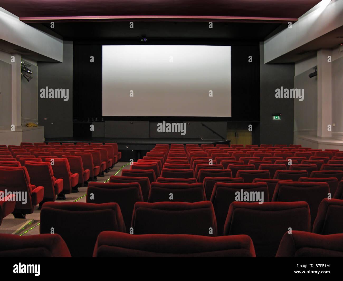 Interni di cinema Immagini Stock