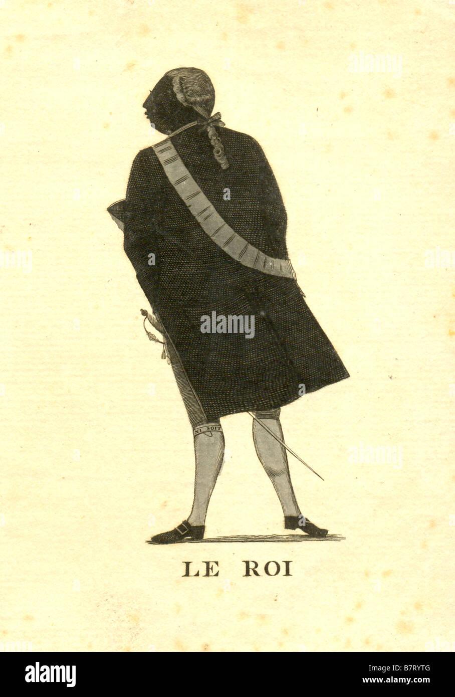 Xviii secolo silhouette ritratto di Re Giorgio III circa 1782 Immagini Stock