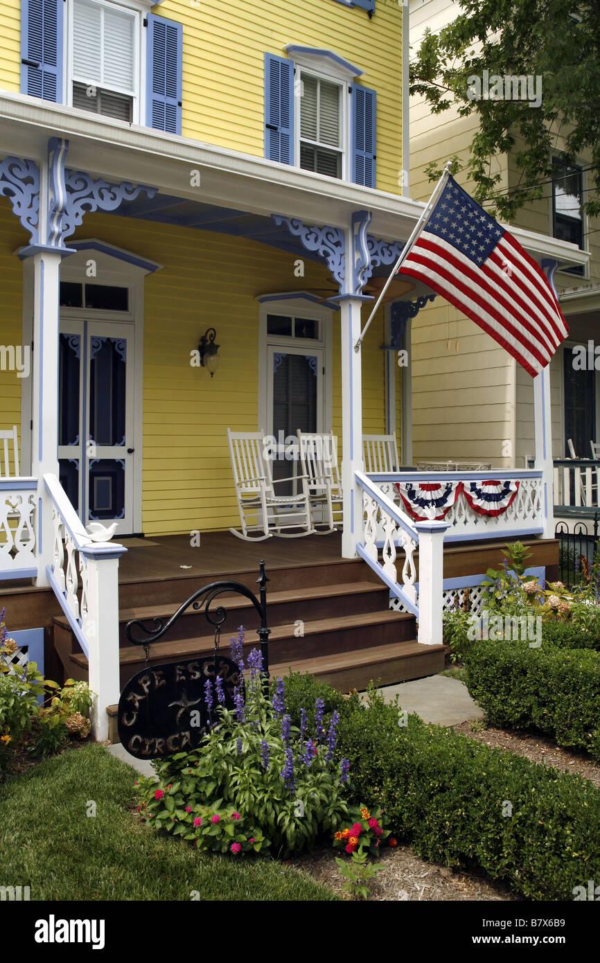 Casa vittoriana, Cape May, New Jersey, STATI UNITI D'AMERICA Immagini Stock