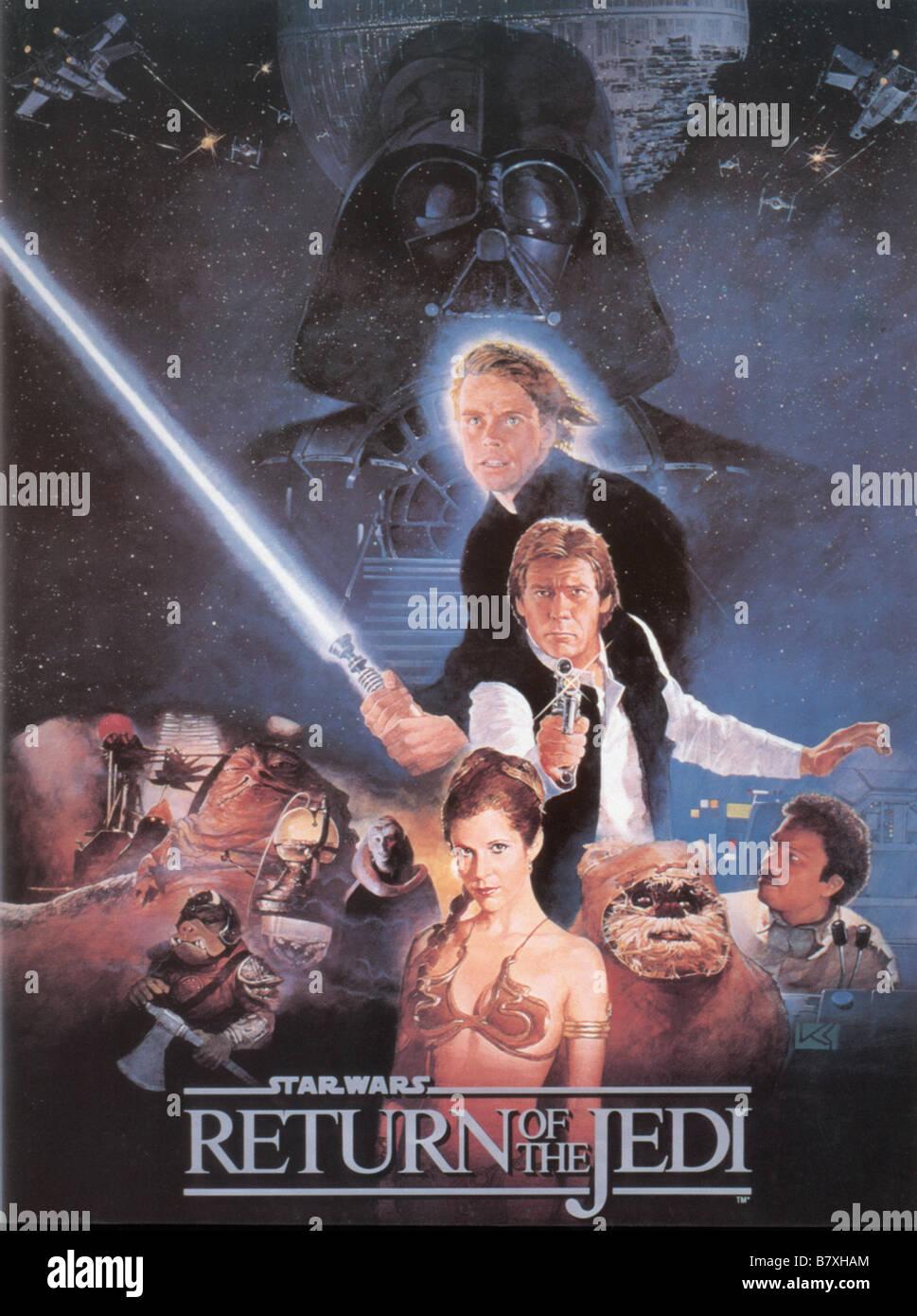 Star Wars: Episodio VI - il ritorno dello Jedi Anno : 1983 USA Mark Hamill, Harrison Ford, Carrie Fisher, Billy Immagini Stock