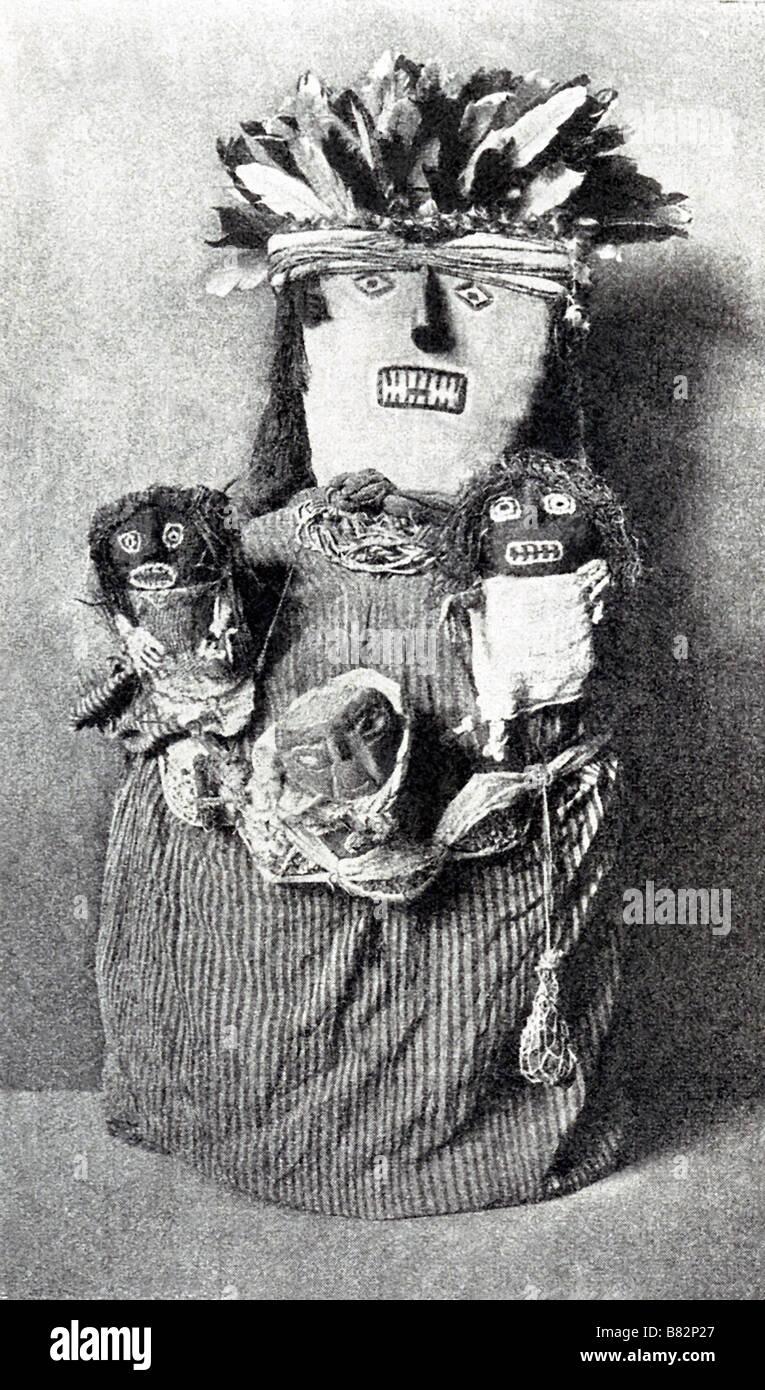Mummia peruviana Immagini Stock