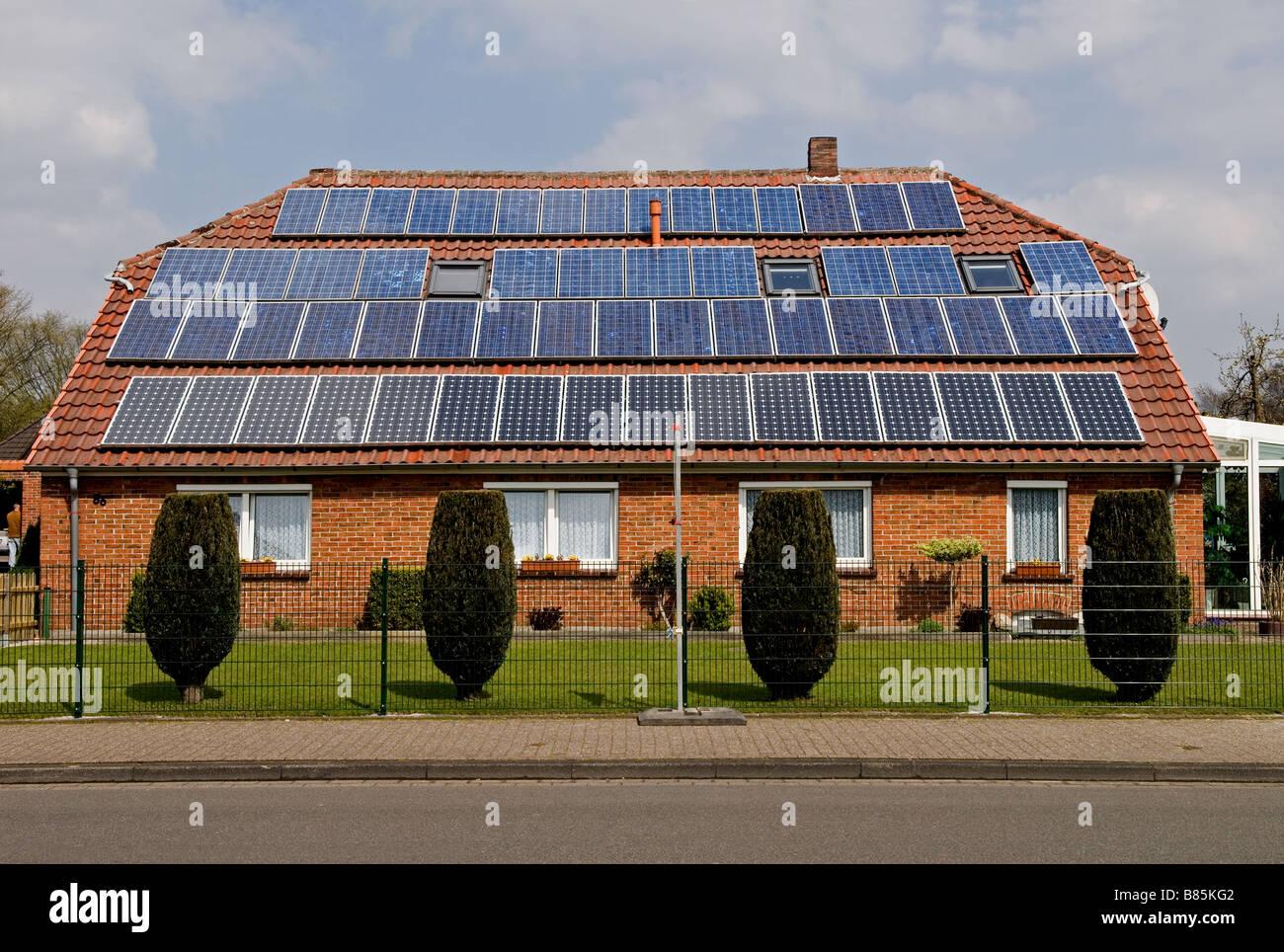 Energia solare house, Oldenburg, Bassa Sassonia, Germania. Immagini Stock