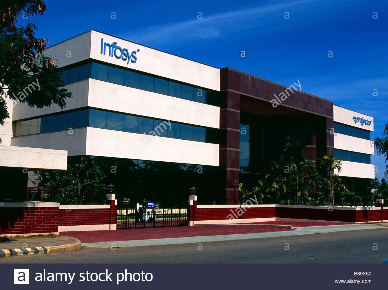 Bangalore India Infosys edificio Immagini Stock