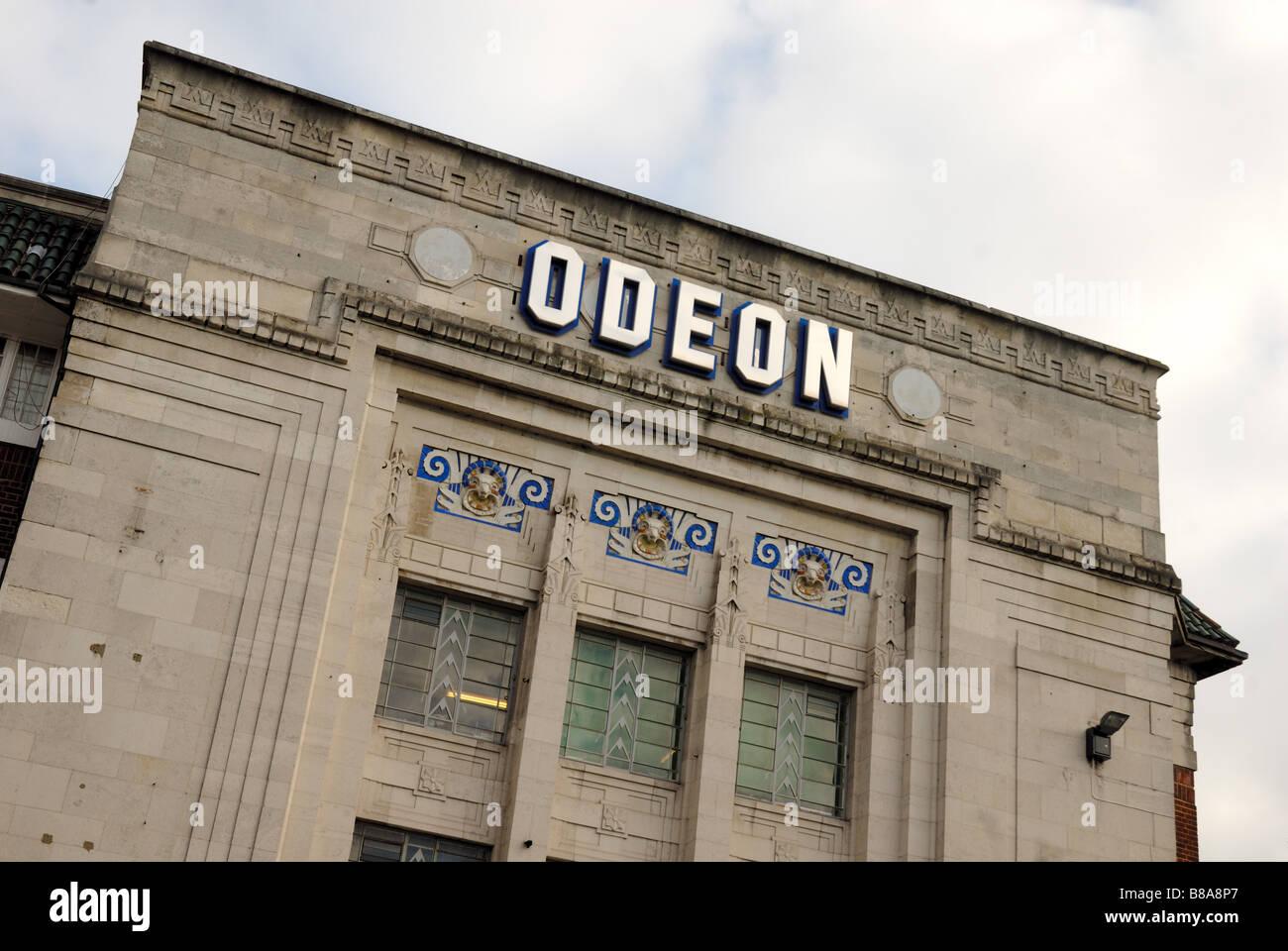 Cinema Odeon parte anteriore Immagini Stock