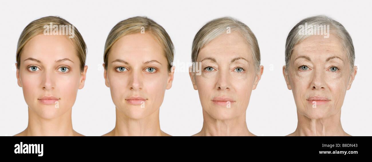 Donna di invecchiamento Immagini Stock