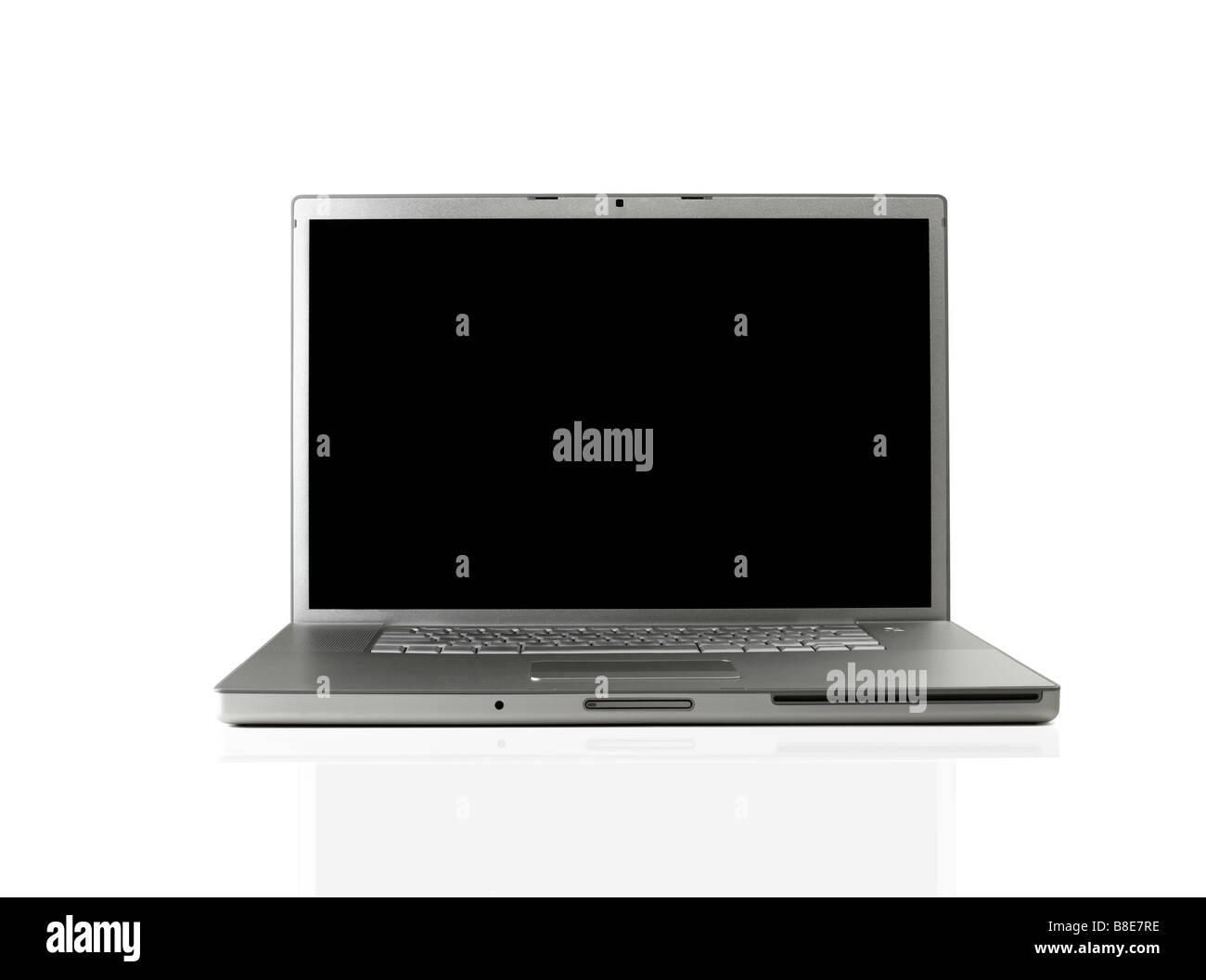 Aprire il computer portatile Immagini Stock